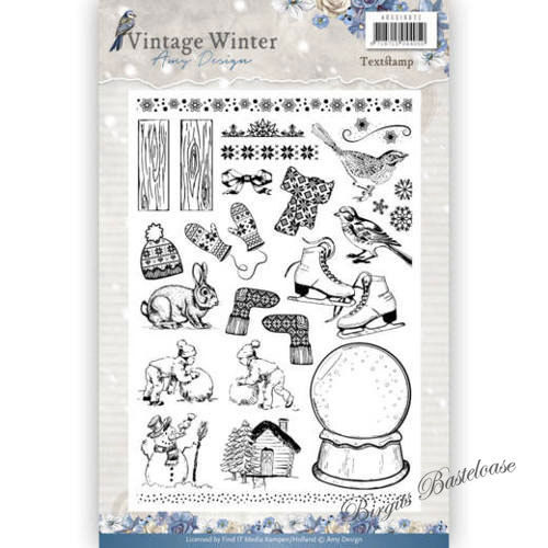 Amy Design Clear Stamps Motive Vintage Winter ADCS10021