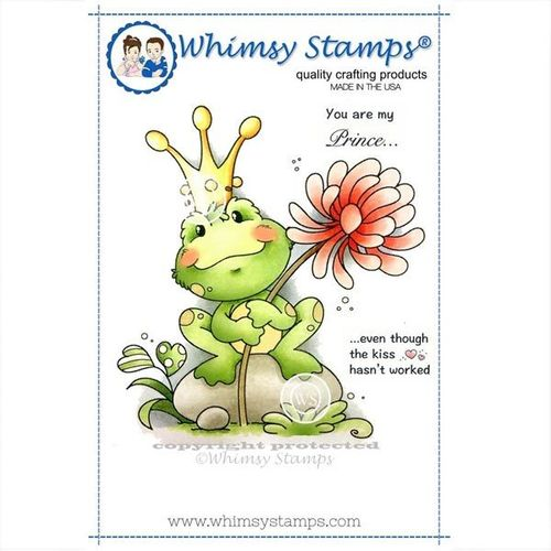 Whimsy Stamps Frog Prince SZWS183