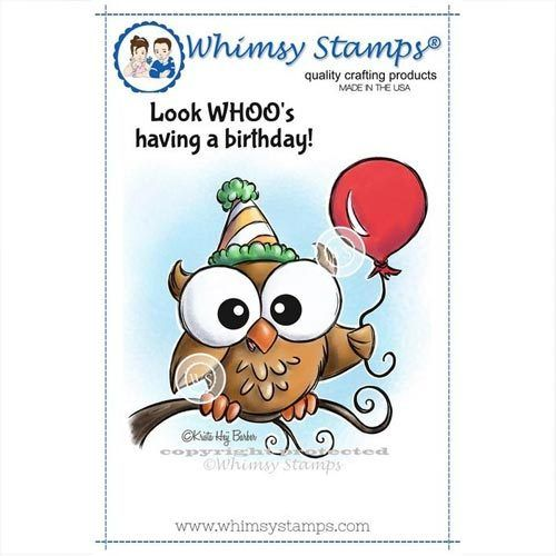 Whimsy Stamps Party Eule - Look Whoo KHB115