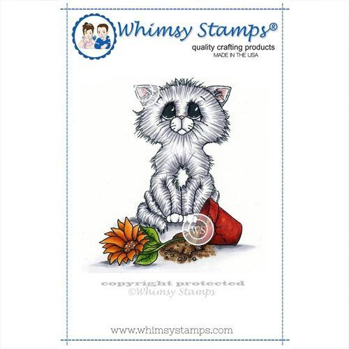 Whimsy Stamps Katze - Love Me Anyway C1266