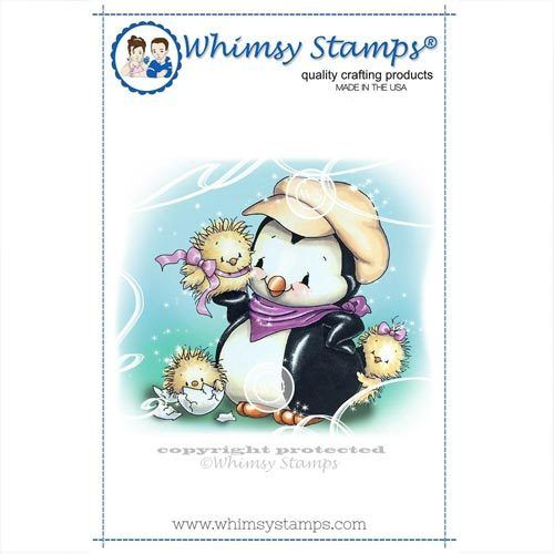 Whimsy Stamps Pinguin - Penguins Cute Chicks C1306