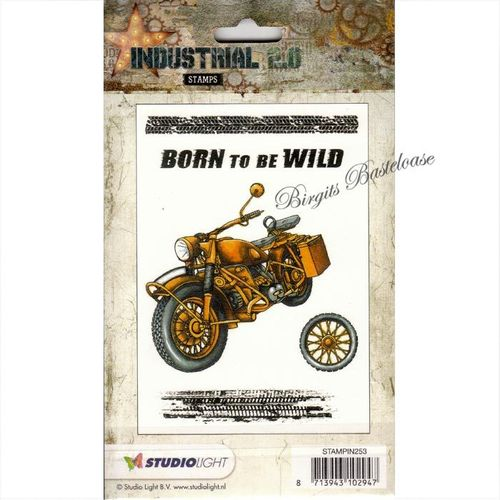 Studiolight Clear Stamps Industrial 2.0 nr 253 Motorrad
