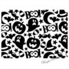 Prägefolder Embossing Folder Halloween Collage 1219-212