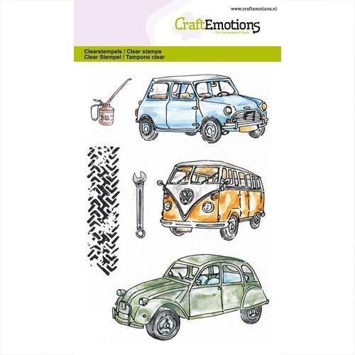 CraftEmotions Clear Stamps Classic Cars 130501/1279