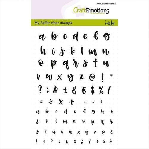 CraftEmotions Clear Stamps Alphabet 5 - 130501/1701