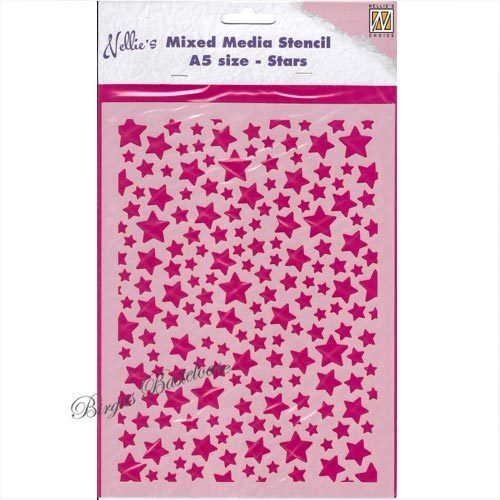 Nellie's Mixed Media Stencil Sterne Stars NMMS008