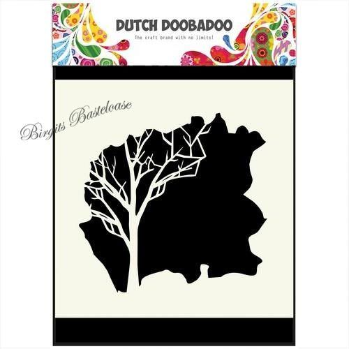 Dutch Doobadoo Mask Art 14,8 x 14,8 cm Baum - Tree 604