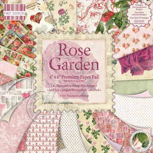 First Edition Paper Pad 15 x 15 Rose Garden FEPAD061