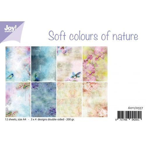 JoyCrafts Design Papier Soft colours of nature 6011/0557