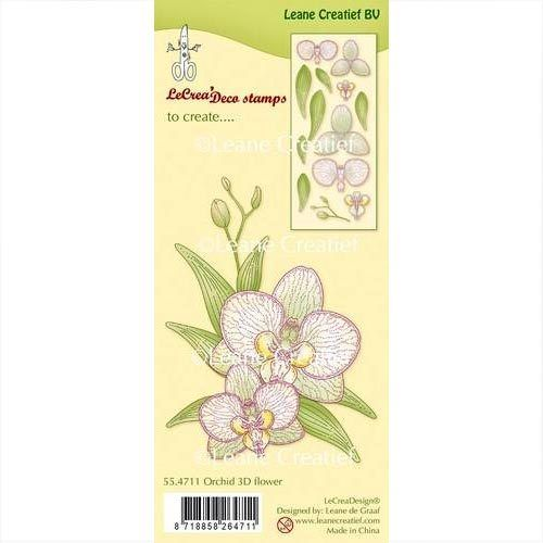 Leane Creatief Clear Stamps Orchidee 3D Blume 55.4711