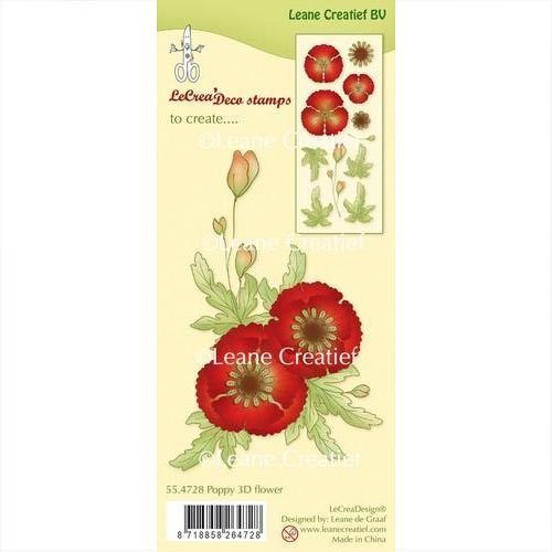 Leane Creatief Clear Stamps Mohnblume 3D Blume 55.4728