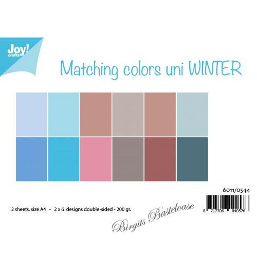 JoyCrafts Duo-Papier Winter A4 Paper 6011/0544