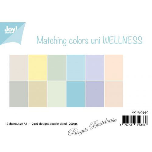 JoyCrafts Duo-Papier Wellness A4 Paper 6011/0546