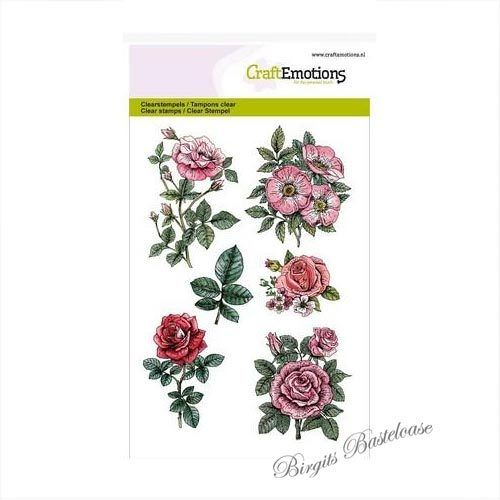 CraftEmotions Clear Stamps A6 - Botanical Rose 130501/1241
