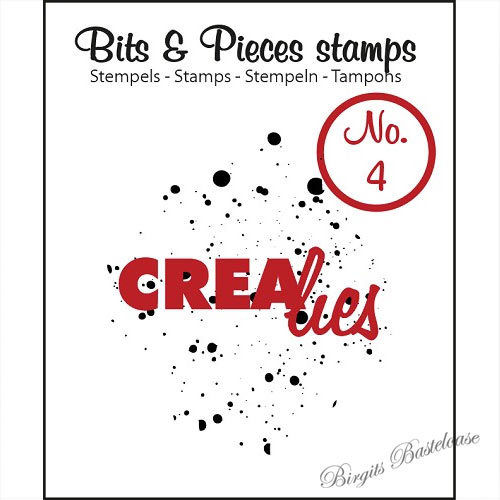 Crealies Clear Stamp Bits&Pieces no. 04 Ink splashes CLBP04