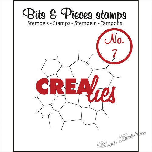 Crealies Clear Stamp Bits&Pieces no. 07 Thin mosaic CLBP07