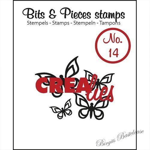 Crealies Clear Stamp Bits&Pieces no. 14 Butterfly 2 CLBP14