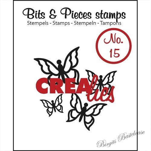 Crealies Clear Stamp Bits&Pieces no. 15 Butterfly 3 CLBP15