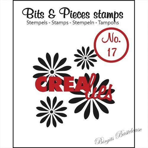 Crealies Clear Stamp Bits&Pieces no. 17 Flowers 1 CLBP17