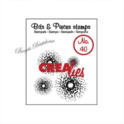 Crealies Clear Stamp Bits&Pieces no. 40 CLBP40