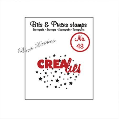 Crealies Clear Stamp Bits&Pieces no. 43 Sterne CLBP43