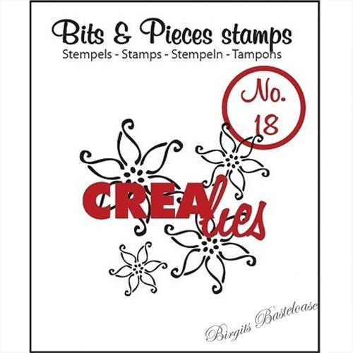 Crealies Clear Stamp Bits&Pieces no. 18 Flowers 2 CLBP18