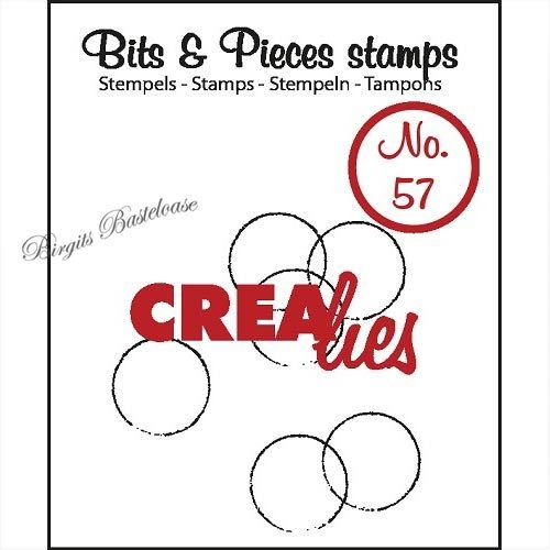 Crealies Clear Stamp Bits&Pieces no. 57 grunge circles CLBP57