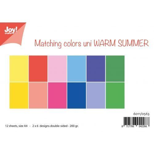 JoyCrafts Duo-Papier Warm Summer A4 Paper 6011/0563