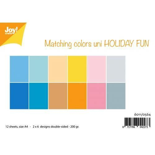 JoyCrafts Duo-Papier Holiday Fun A4 Paper 6011/0564