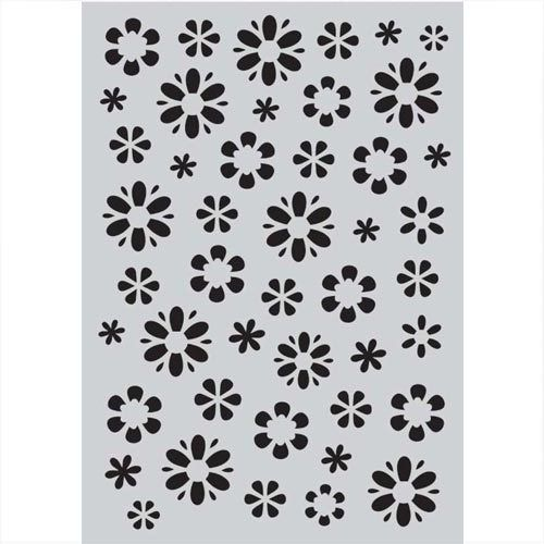 CraftEmotions Mask stencil Fantasy-Blume A5 185070/1105