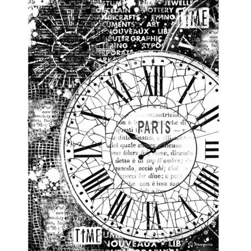 Stamperia Decoupage Rice Paper A4 Uhren Clocks DFSA4170