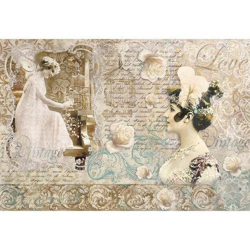Stamperia Decoupage Rice Paper A3 Vintage love letter DFS266