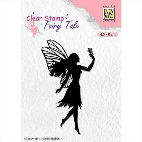 Nellie's Clear Stamp Elfe - Silhouette Fairy Tale FTCS008