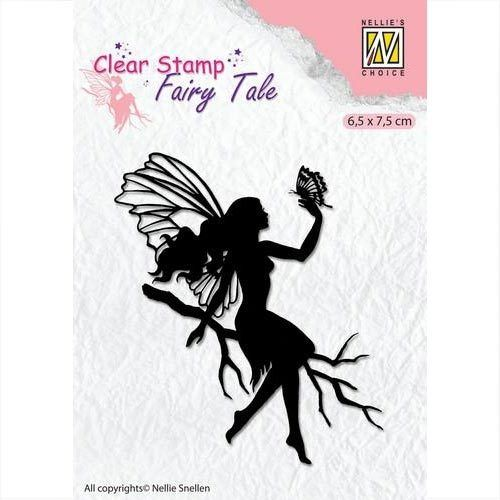 Nellie's Clear Stamp Elfe - Silhouette Fairy Tale FTCS009