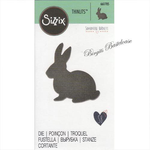 Sizzix Thinlits Stanzschablone Hase - Cute Bunny 661785