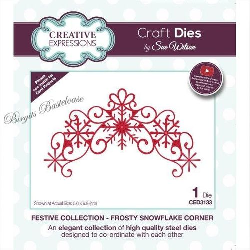 Creative Expressions Snowflake Corner Stanzschablone CED3133