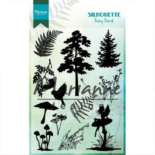 Marianne Design Clear Stamps Silhouette Fairy Forest CS1013