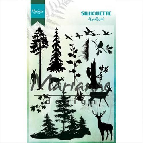 Marianne Design Clear Stamps Silhouette Woodland CS1014
