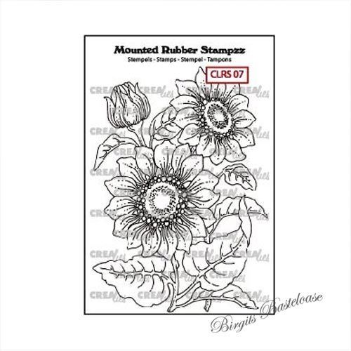 Crealies Mounted Rubber Stamp Sonnenblume CLRS07