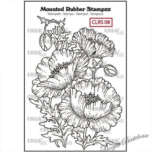 Crealies Mounted Rubber Stamp Mohnblume CLRS08