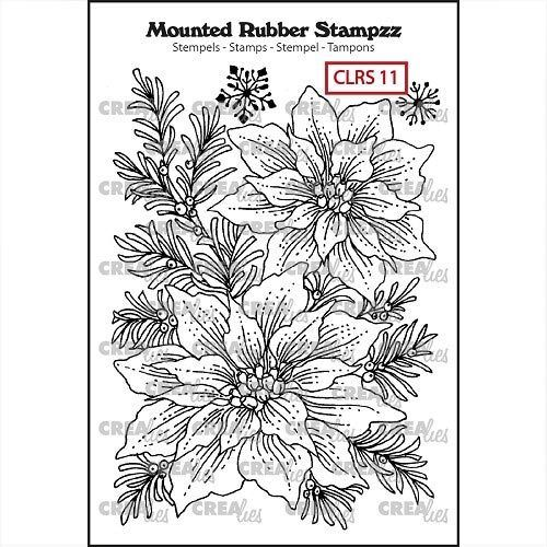 Crealies Mounted Rubber Stamp Weihnachtsstern CLRS11