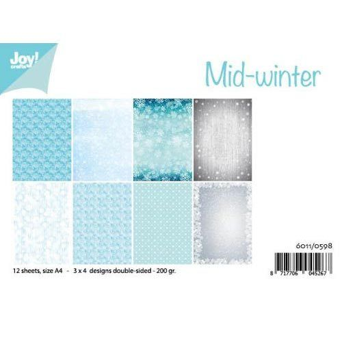 JoyCrafts Design Papier A4 Mid-winter 6011/0598