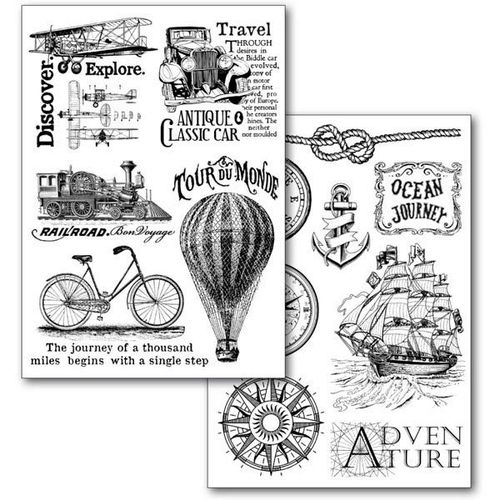 Stamperia Transfer Paper A4 Around the World DFTR074