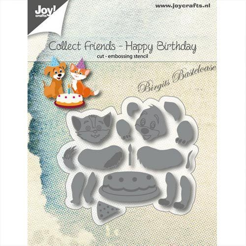 JoyCrafts Stanzschablone Hund & Katze Happy Birthday 6002/1185
