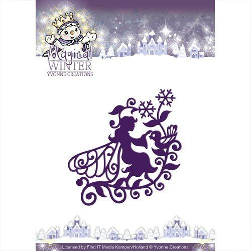 Yvonne Creations Stanzschablone Winter Elfe YCD10043 Fairy