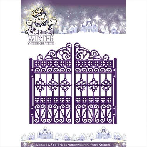 Yvonne Creations Stanzschablone Winter Tor, Gate YCD10044