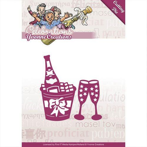 Yvonne Creations Stanzschablone Champagner YCD10046