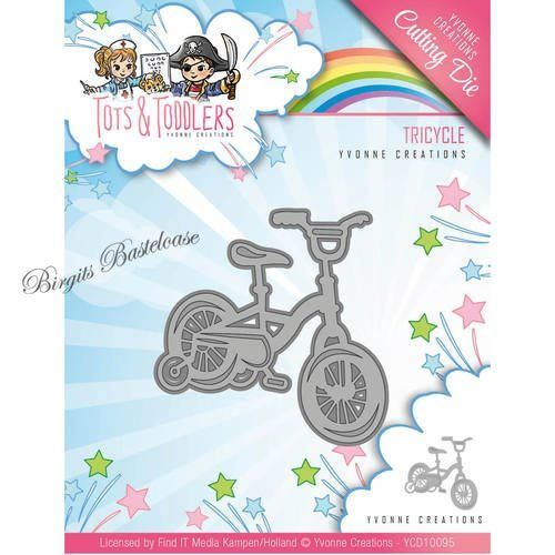 Yvonne Creations Stanzschablone Dreirad Tricycle YCD10095