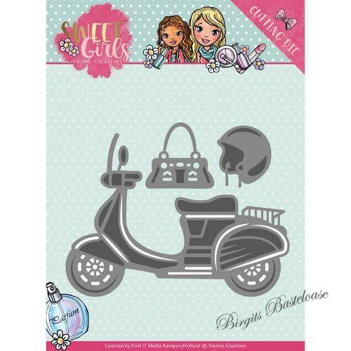 Yvonne Creations Stanzschablone Girls - Scooter YCD10120