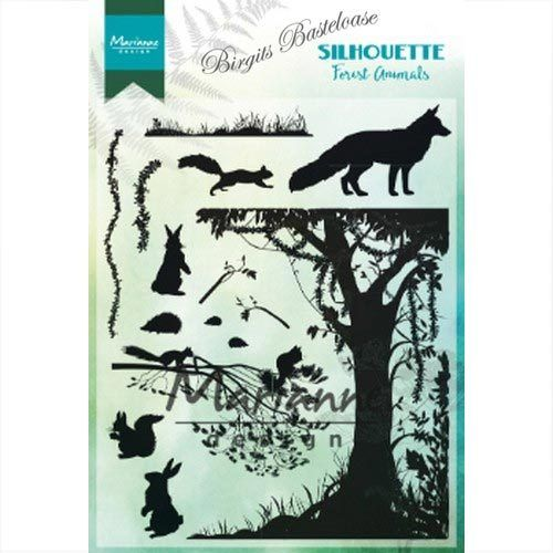 Marianne Design Clear Stamps Silhouette Waldtiere CS1021